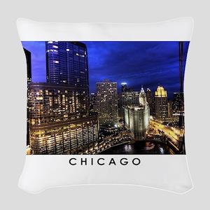 Chicago Cityscape Woven Throw Pillow