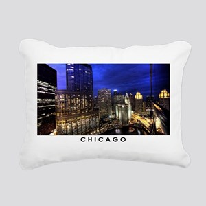 Chicago Cityscape Rectangular Canvas Pillow