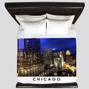 Chicago Cityscape King Duvet