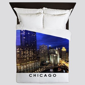 Chicago Cityscape Queen Duvet