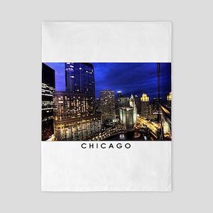 Chicago Cityscape Twin Duvet Cover