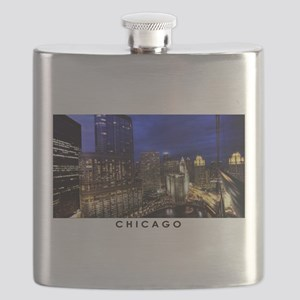 Chicago Cityscape Flask