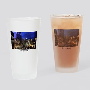 Chicago Cityscape Drinking Glass