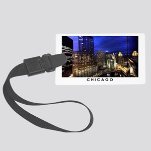Chicago Cityscape Large Luggage Tag