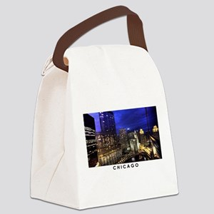 Chicago Cityscape Canvas Lunch Bag