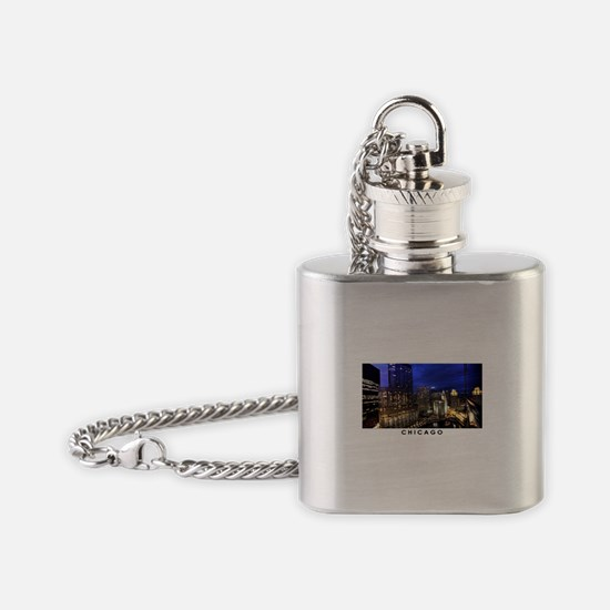 Chicago Cityscape Flask Necklace