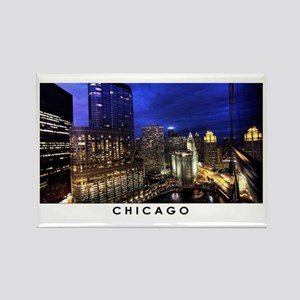Chicago Cityscape Rectangle Magnet