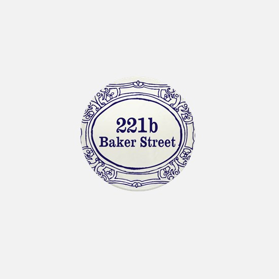 221b Baker Street Mini Button