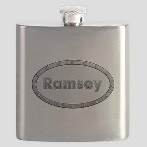 Ramsey Metal Oval Flask