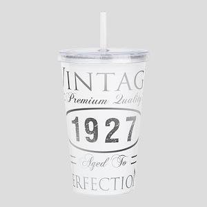 Vintage 1927 Birthday Acrylic Double-wall Tumbler