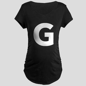 Letter G White Maternity T-Shirt