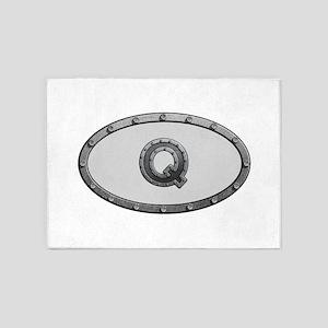 Q Metal Oval 5'x7'Area Rug