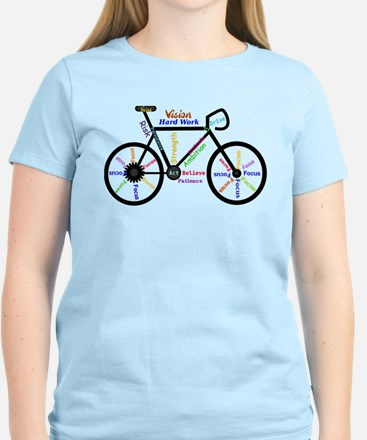 Bike made up of words to motivate T-Shirt