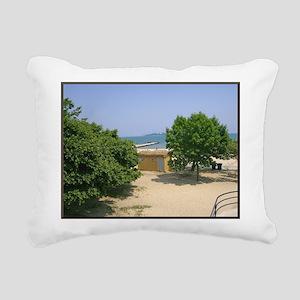 Lake Michigan Shorelines Rectangular Canvas Pillow