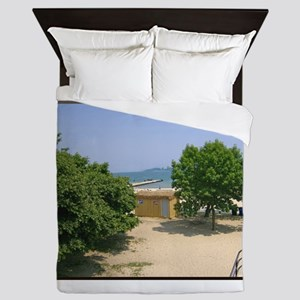 Lake Michigan Shorelines Queen Duvet