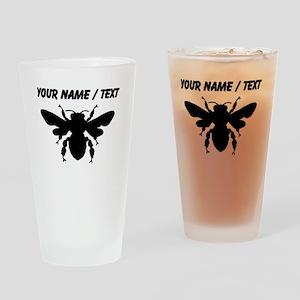 Custom Honey Bee Silhouette Drinking Glass