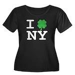 I NY Women's Plus Size Scoop Neck Dark T-Shirt