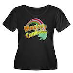 Magicll Women's Plus Size Scoop Neck Dark T-Shirt