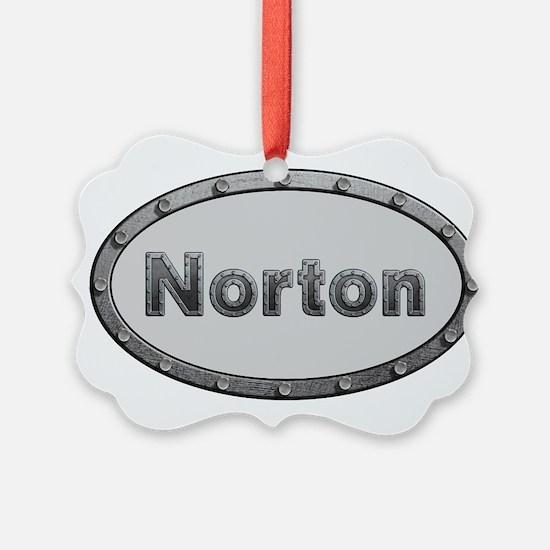 Norton Metal Oval Ornament