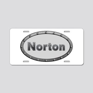 Norton Metal Oval Aluminum License Plate