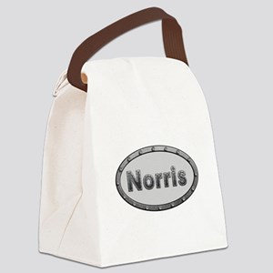 Norris Metal Oval Canvas Lunch Bag