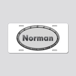 Norman Metal Oval Aluminum License Plate
