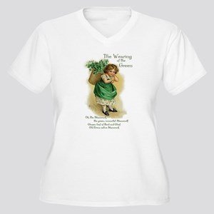 Wearing of the Green Women's Plus Size V-Neck T-Sh