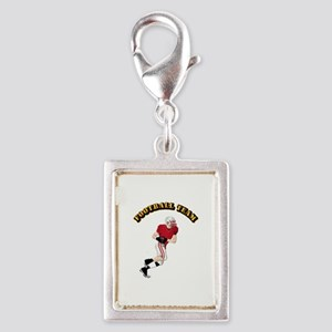 Sports - Football Team Silver Portrait Charm