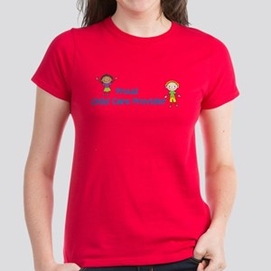 Proud Child Care Provider Women's Dark T-Shirt