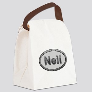 Neil Metal Oval Canvas Lunch Bag