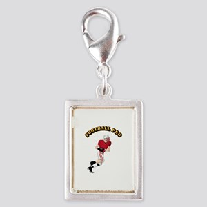 Sports - Football Pro Silver Portrait Charm