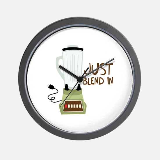 Just Blend In Wall Clock