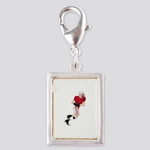 Sports - Football - No Txt Silver Portrait Charm