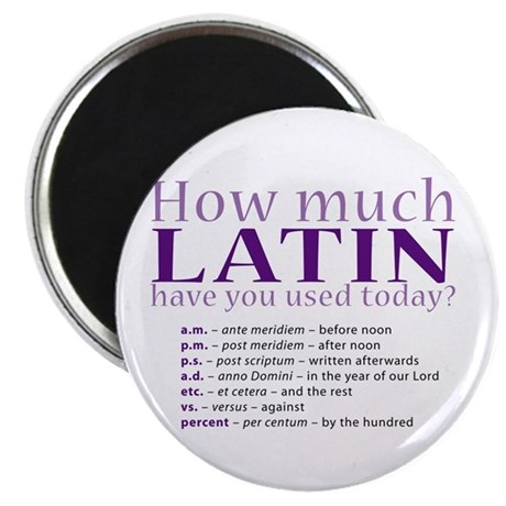"""How Much Latin 2.25"""" Magnet (100 pack)"""
