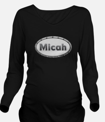 Micah Metal Oval Long Sleeve Maternity T-Shirt