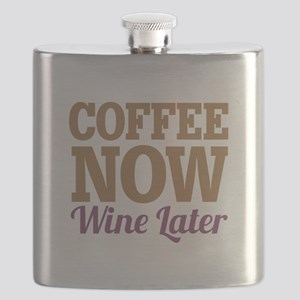 Coffee Now Wine Later Flask