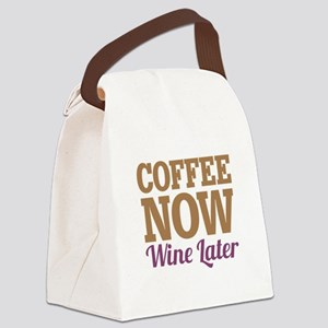 Coffee Now Wine Later Canvas Lunch Bag