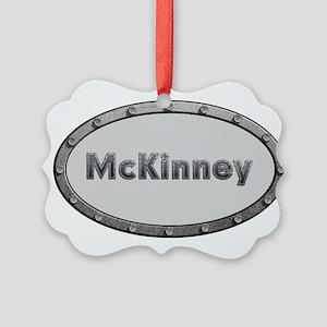 McKinney Metal Oval Ornament