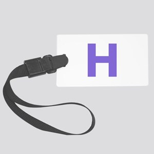 Letter H Purple Luggage Tag