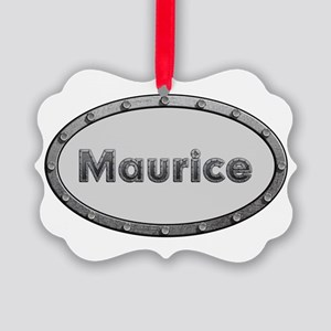 Maurice Metal Oval Ornament