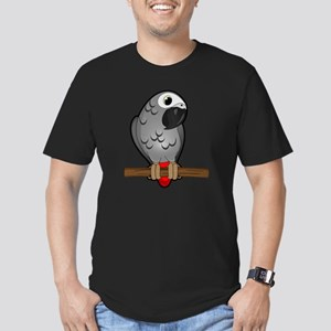 African Grey Men's Fitted T-Shirt (dark)