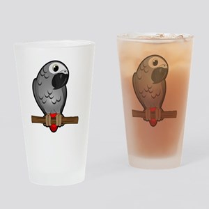 African Grey Drinking Glass