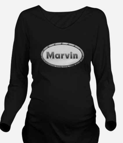 Marvin Metal Oval Long Sleeve Maternity T-Shirt