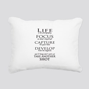 Life is like photography Rectangular Canvas Pillow