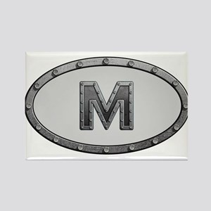 M Metal Oval Magnets