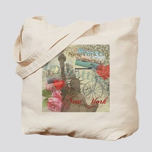 Vintage New York City Collage Tote Bag