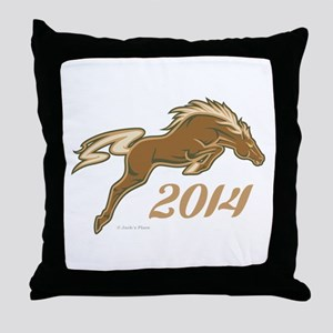 Year of the Horse Throw Pillow