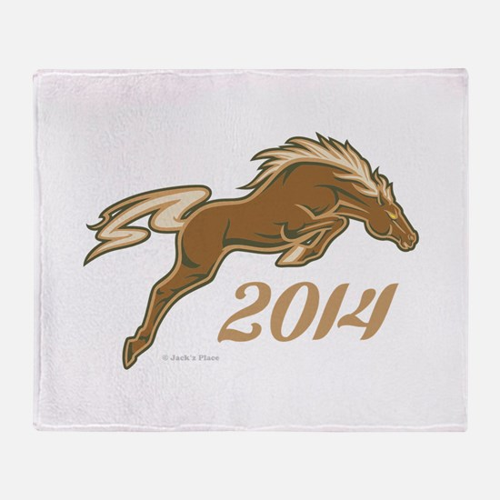 Year of the Horse Throw Blanket