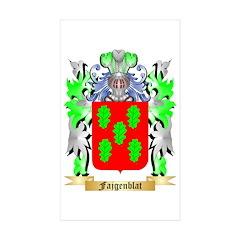 Fajgenblat Sticker (Rectangle 50 pk)