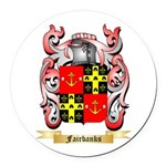 Fairbanks Round Car Magnet